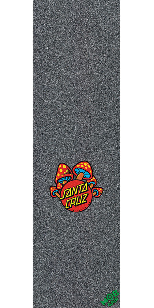 Mob Santa Cruz Mushroom Dot  9in x 33in - Black - Skateboard Griptape (1 Sheet)