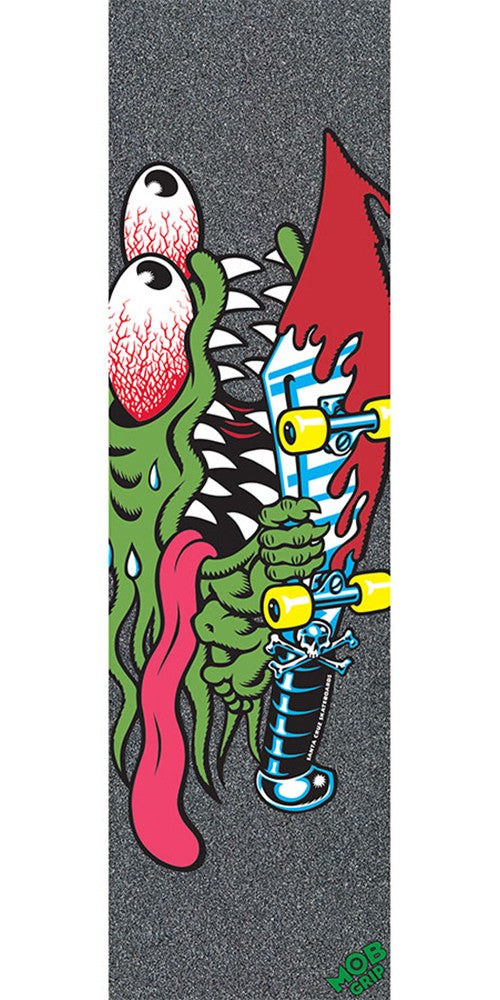 Mob Santa Cruz Slasher 9in x 33in - Black - Skateboard Griptape (1 Sheet)