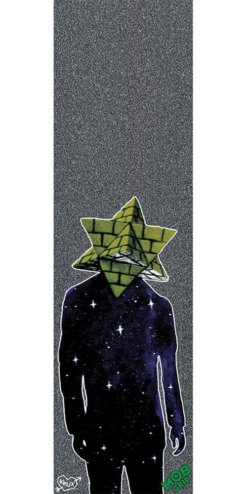 Mob Krux Pyramid Country 9in x 33in - Black - Skateboard Griptape (1 Sheet)