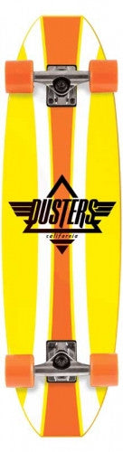 Dusters Even Cruiser - Orange - 9.3in x 33in - Complete Skateboard