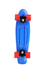 Rock On Mini Cruzer - Blue w/Red Wheels - Complete Skateboard
