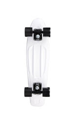 Rock On Mini Cruzer White w/Black Wheels - Complete Skateboard