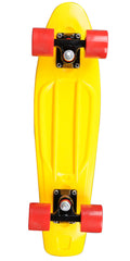 Rock On Mini Cruzer - Yellow w/Red Wheels - Complete Skateboard