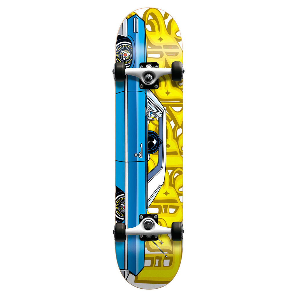Blind Lowrider Mid - Blue/Yellow - 7.7 - Complete Skateboard