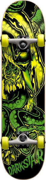 Darkstar Undead FP - Green - 7.7in x 30.75in - Complete Skateboard