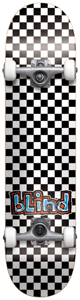 Blind Checkerboard - Black/White - 7.5in - Complete Skateboard