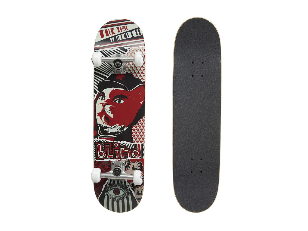 Blind Time Is Meow - Red/Black - 8.0in x 32.1in - Complete Skateboard