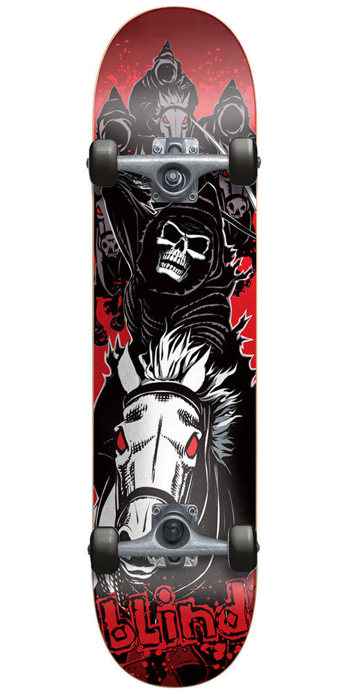 Blind Fourhorseman Youth Mid - Red/Black - 7.4in - Complete Skateboard
