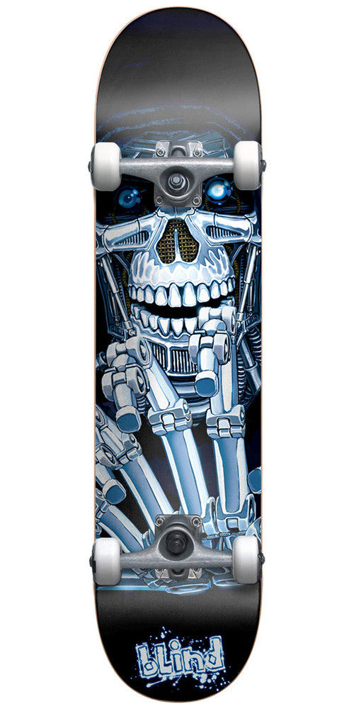 Blind Killing Machine - Black/Blue - 7.6in - Complete Skateboard