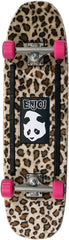 Enjoi Carpet Muncher Cruiser - Leopard - 8.375in x 31.7in - Complete Skateboard