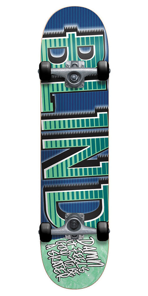Blind Varsity - Blue/Mint - 7.75 - Complete Skateboard