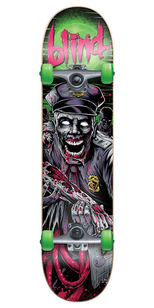 Blind Bad Cop - Pink/Green - 7.5 - Complete Skateboard