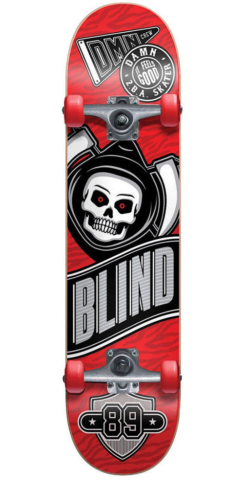 Blind Reaper Crew Youth - Red - 7.25in - Complete Skateboard