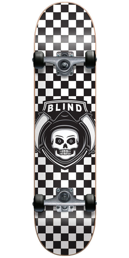 Blind Reaper Checker Youth - Black/White - 6.75in - Complete Skateboard