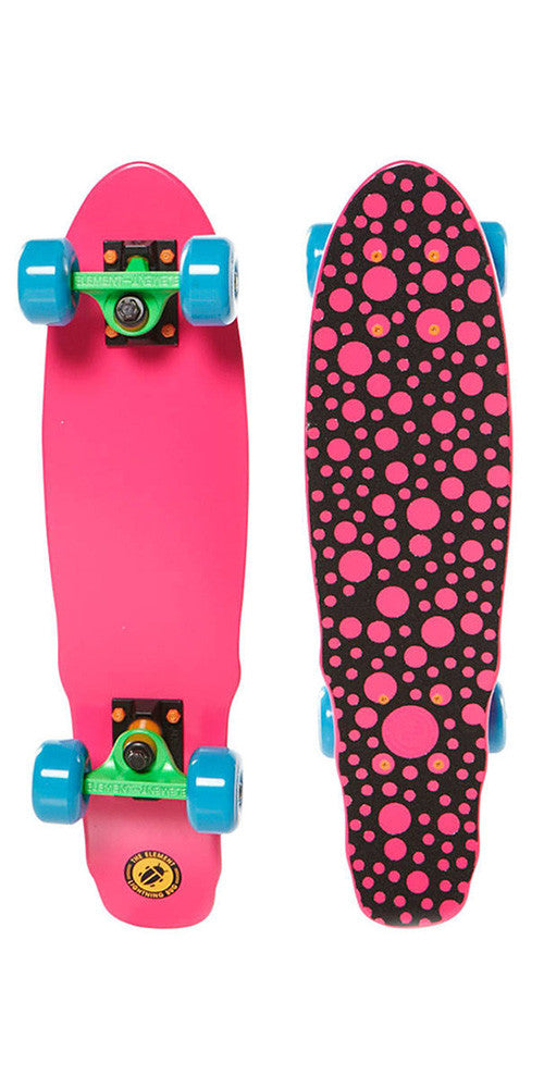 Element Lightning Bug Cruiser - Pink/Blue - 6.125in x 23.125in - Complete Skateboard