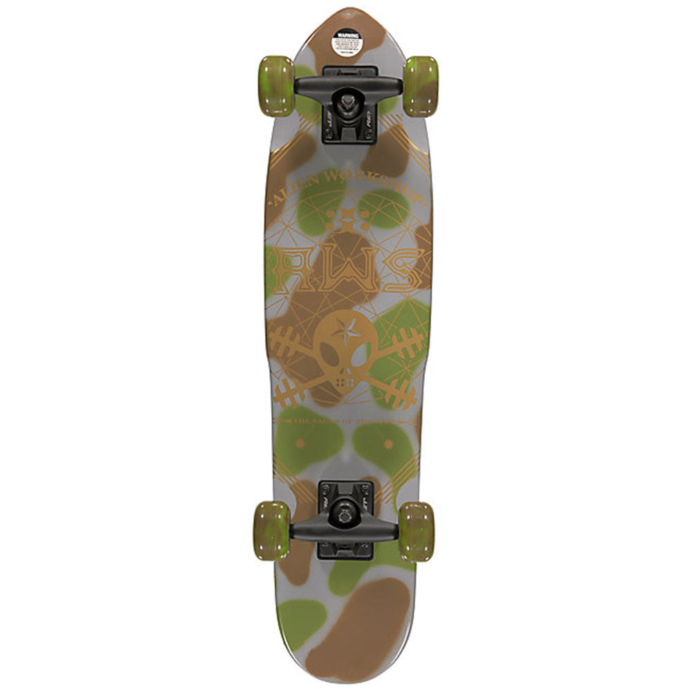 Alien Workshop Saga - 7.0in x 28.0in - Camo - Complete Skateboard
