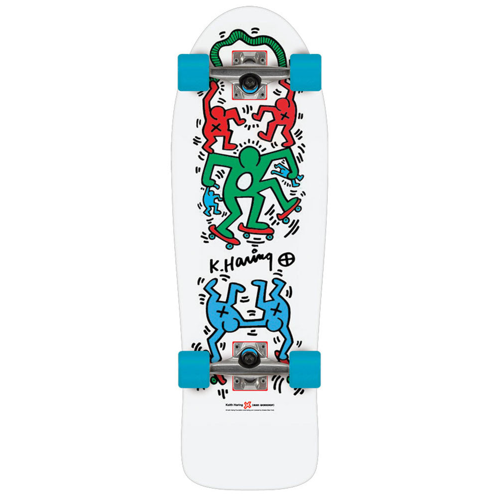 Alien Workshop Haring Skateout - 9.75in x 30.0in - White - Complete Skateboard