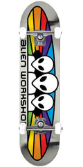 Alien Workshop Spectrum Foil - Silver - 7.875in x 31.625in - Complete Skateboard