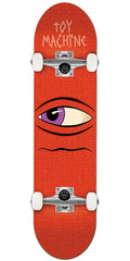 Toy Machine Side Eye - Red - 7.875in x 31.75in - Complete Skateboard