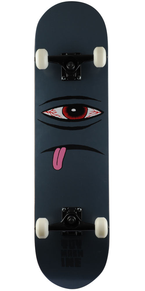 Toy Machine Bloodshot Sect Eye Face - Grey - 8.25in x 31.5in - Complete Skateboard