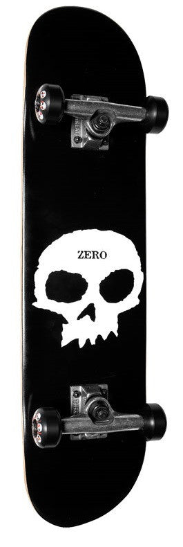 Zero Single Skull - Black/White - 7.875in - Complete Skateboard