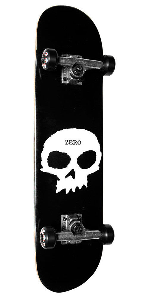Zero Single Skull - Black/White - 7.5in - Complete Skateboard