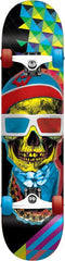Speed Demons Skull Mob 3D - Red/Blue - 8.0in x 31.5in - Complete Skateboard