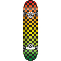 Speed Demons Faded Checks PP - Rasta - 7.8in - Complete Skateboard