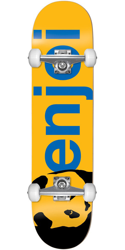 Enjoi Panda Head Large Full - Yellow - 8.0in - Complete Skateboard