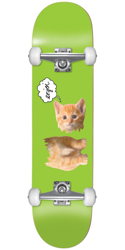 Enjoi Decapitated Kitten - Green - 7.5in - Complete Skateboard