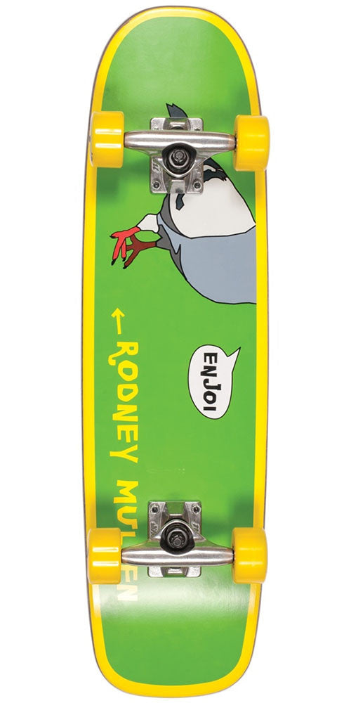 Enjoi Mullen Freestyle - Green/Yellow - 7.375in - Complete Skateboard
