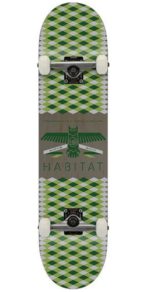 Habitat Mantle Large - Green - 8.0 - Complete Skateboard