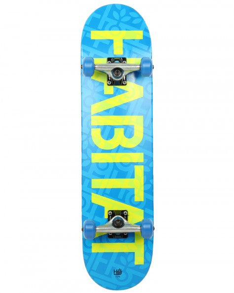 Habitat Stencil Large - Blue/Green/Yellow - 7.75 - Complete Skateboard