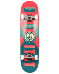 Habitat Headline - Red/Blue - 8.0in x 31.7in - Complete Skateboard