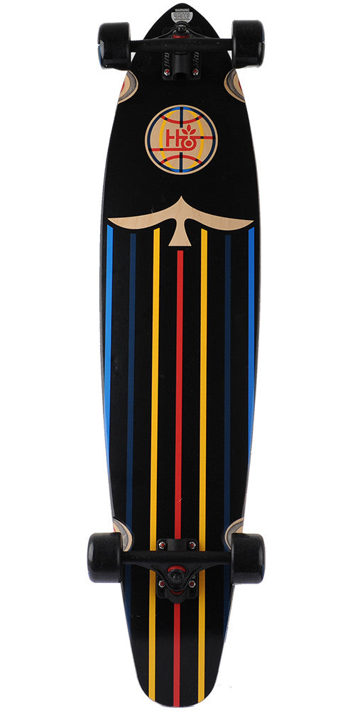 Habitat Chroma Flyer Longboard - Black - 9.375in x 41in - Complete Skateboard
