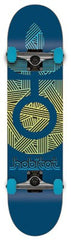 Habitat Bloom Large - Blue - 8.1in x 32in - Complete Skateboard