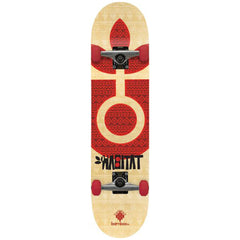 Habitat Bamboo Bloom - 7.75in x 31.5in - Natural/Red - Complete Skateboard