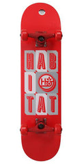 Habitat Headline Stacked - 7.75in x 31.5in - Red - Complete Skateboard