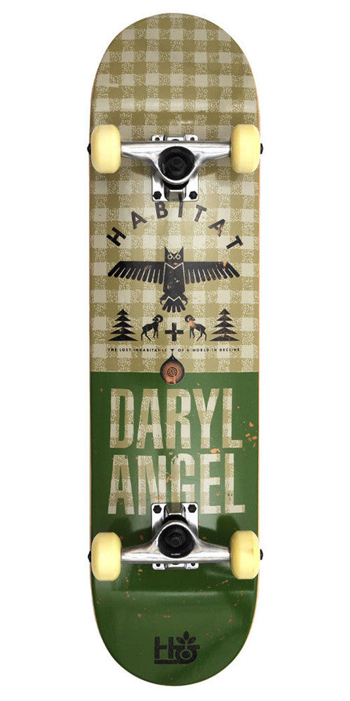 Habitat DA Daryl Angel Hinterland Hemp - Green - 7.75 - Complete Skateboard