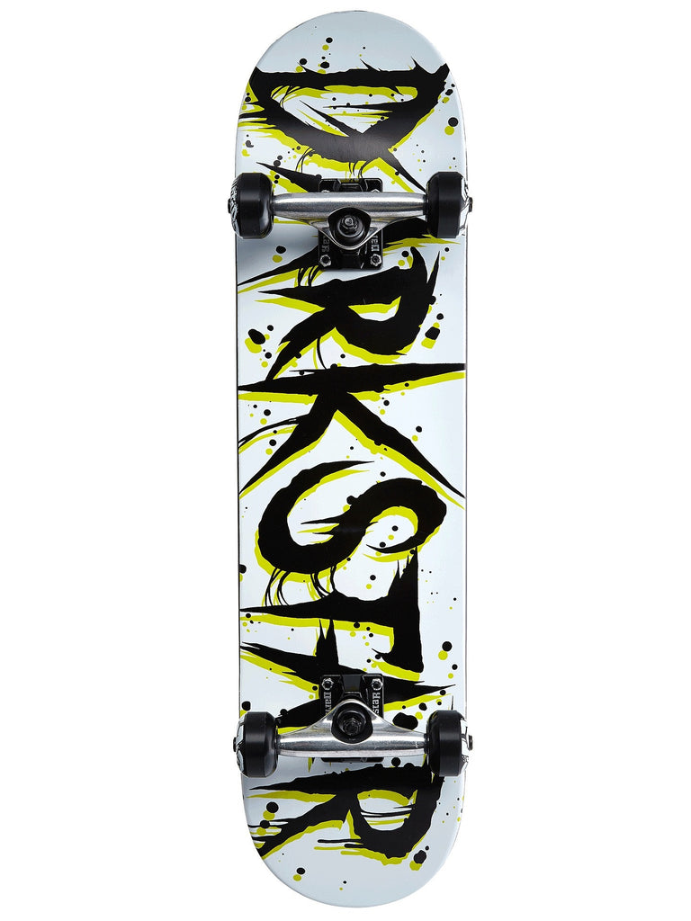 Darkstar Wrecked FP - Black/White - 7.8 - Complete Skateboard