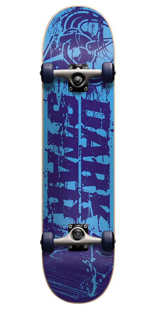 Darkstar Splatter FP Youth - Blue - 7.4 - Complete Skateboard