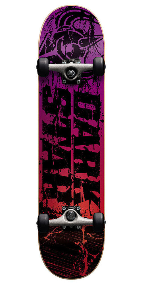 Darkstar Splatter - Sunset Red - 7.6in x 31.3in - Complete Skateboard