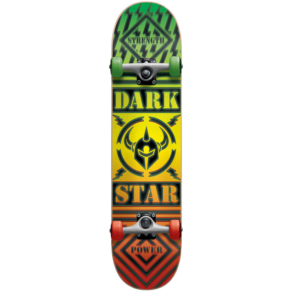 Darkstar Blunt FP - Rasta/Glow In The Dark - 7.75in x 31.2in - Complete Skateboard