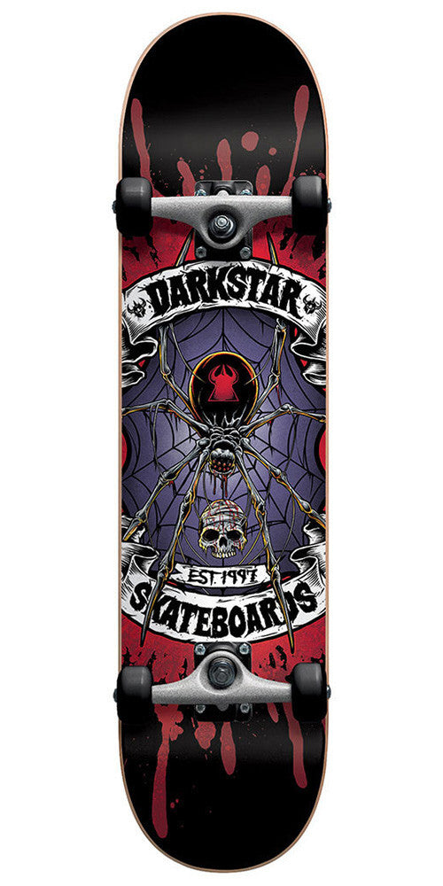 Darkstar Widow FP - Red/Purple - 7.75 - Complete Skateboard