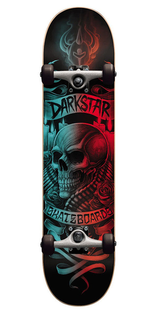 Darkstar Shrine - Aqua/Red - 7.375 - Complete Skateboard