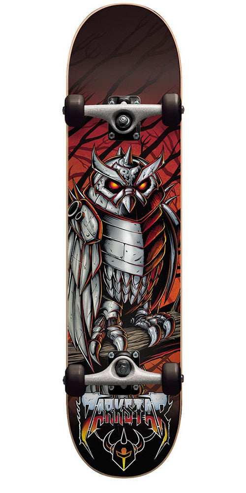 Darkstar Nightowl FP - Red - 7.625in - Complete Skateboard