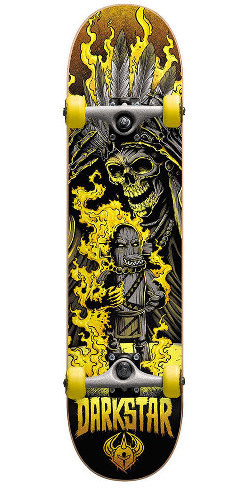 Darkstar Torch Youth - Yellow - 6.75in - Complete Skateboard