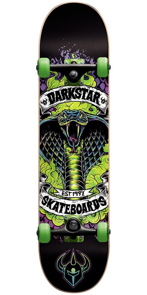 Darkstar Python FP - Green - 7.75in - Complete Skateboard