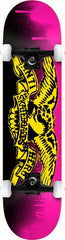 Anti-Hero Stencil Small - Pink/Yellow - 7.5in x 31.5in - Complete Skateboard