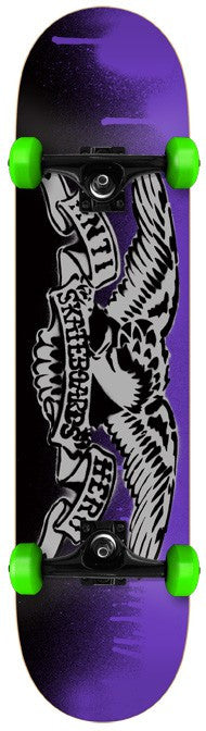 Anti-Hero Stencil Large - Purple/Grey - 8.0in x 31.75in - Complete Skateboard